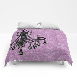 Sparkly Chandelier Damask Floral Print Comforters