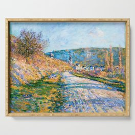 Claude Monet - The Road to Vetheuil - Digital Remastered Edition Serving Tray