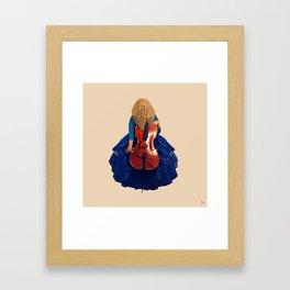 Cellist in Blue II Framed Art Print
