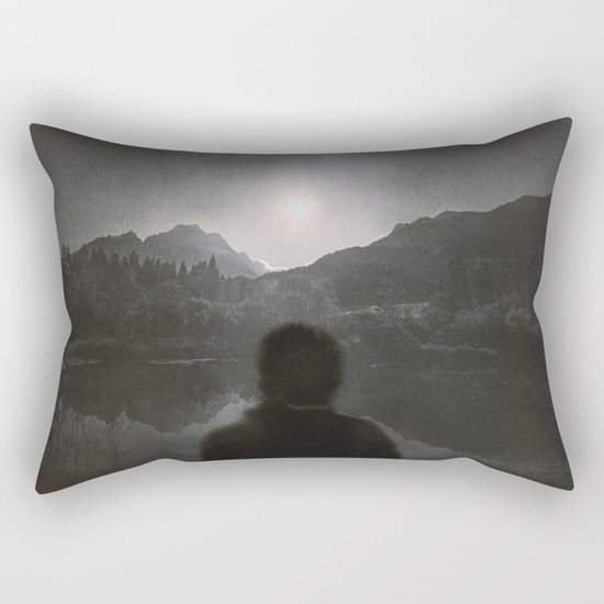 Hypnotized by the Moon II Rectangular Pillow