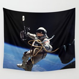 Astronaut : First American Spacewalk 1965 Wall Tapestry