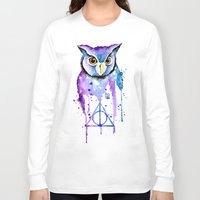 hedwig Long Sleeve T-shirts featuring Hedwig by Simona Borstnar