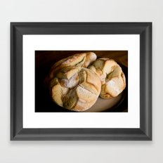Pitahaya Bread Framed Art Print