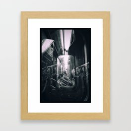 Subway reflections Framed Art Print