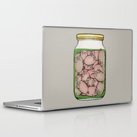 pigs Laptop & iPad Skins featuring Pickled Pigs by Megs stuff...