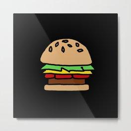 Burger Off Metal Print