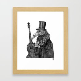 Vulture Double Bass by Pia Tham Framed Art Print