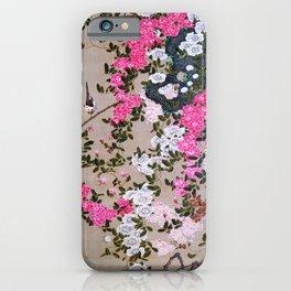 Ito Jakuchu - Rosebush And Birds - Digital Remastered Edition iPhone Case