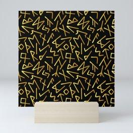 Scrambled Golden Runes Mini Art Print