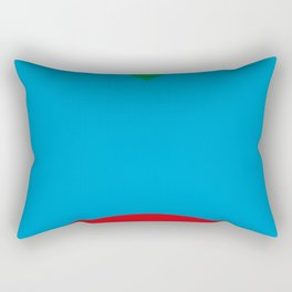 Blue dog, strange red nose, green Background. OR Blue Face, Green hair, big Red Mouth. You Choose. Rectangular Pillow