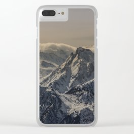MOUNTAIN - RANGE - SNOW - PHOTOGRAPHY Clear iPhone Case