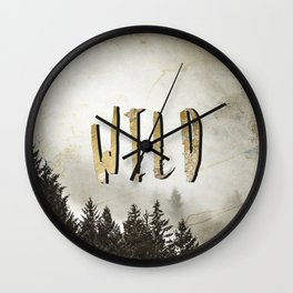 Wild Gold Forest Wall Clock