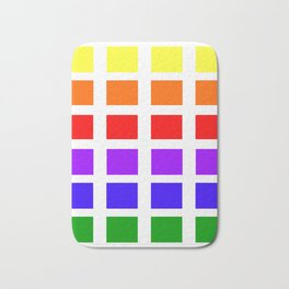 Colorful Art rainbow swatches pattern Bath Mat