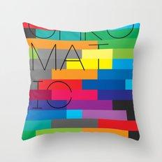 Chromatic Poster Throw Pillow