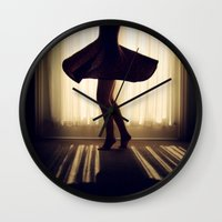 dancer Wall Clocks featuring Dancer by Kameron Elisabeth
