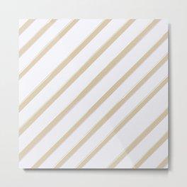 Diagonal golden stripes Metal Print