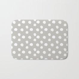 Brushy Dots - Gray Bath Mat
