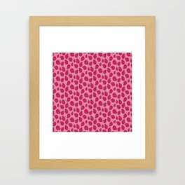 Pink Ladybugs Framed Art Print