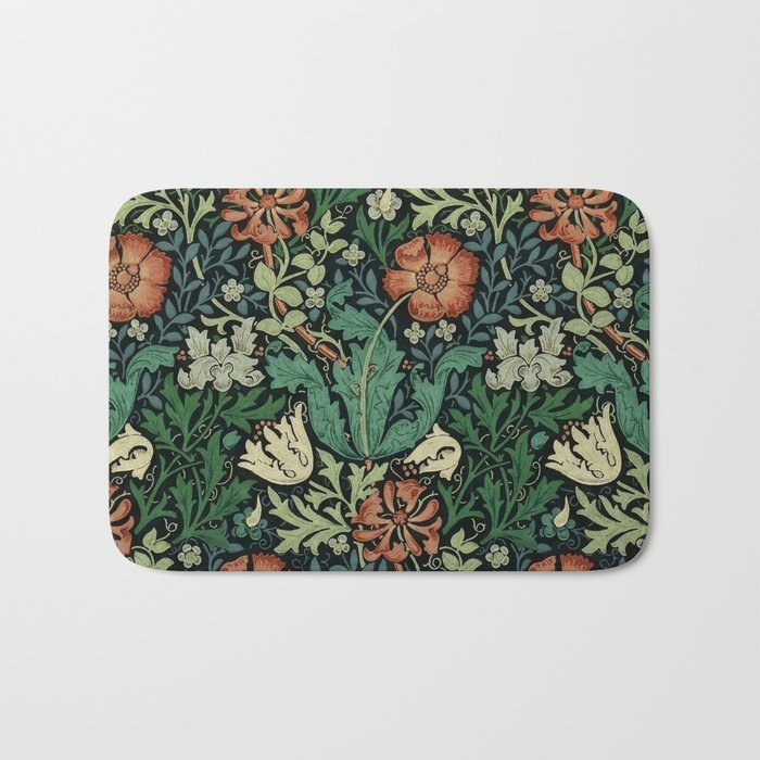 William Morris Compton Floral Art Nouveau Pattern Badematte