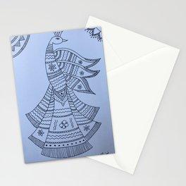 Madhubani Peacock Stationery Cards