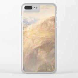 "J.M.W. Turner ""Fort of L'Essillon, Val de la Maurienne, France"" Clear iPhone Case"
