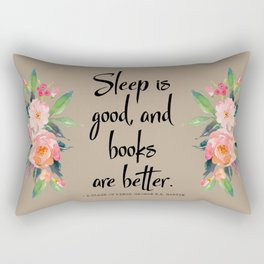 Books and Sleep Rectangular Pillow