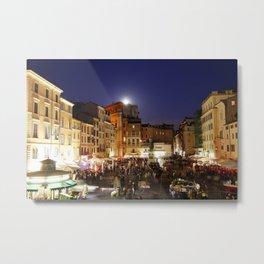 Piazza Campo de Fiori, Rome, Italy Metal Print