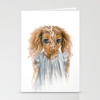 puppy Stationery Cards featuring Puppy by Leslie Evans