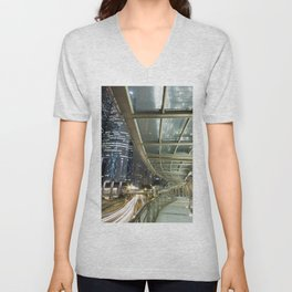 Hong Kong-Night View Unisex V-Neck
