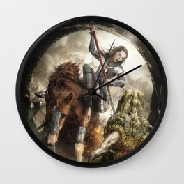 Saint Georgine and the Dragon Wall Clock