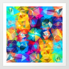 Twirled Triangles Art Print