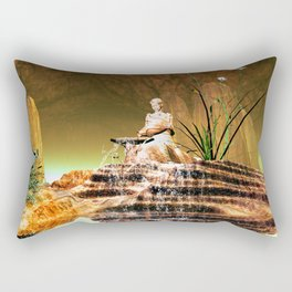 The mysterious underwater cave Rectangular Pillow