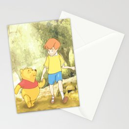 Christopher and Pooh Bear Stationery Cards