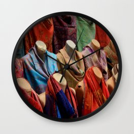 Pashmina Shawls Wall Clock