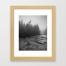 drizzly day Framed Art Print