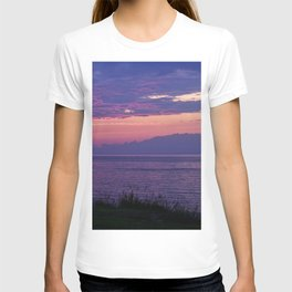 Purple Evening Clouds at Sea T-shirt