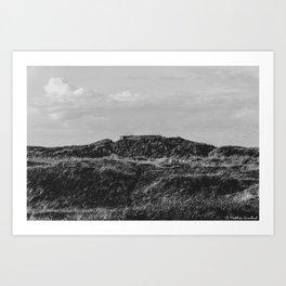 Bunker Landscape Denmark Nymindegab bw Art Print