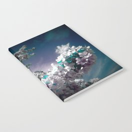 Flowers Purple & Teal Notebook