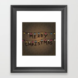 Merry Christmas bulbs Framed Art Print