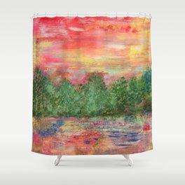 Tree Landscape Shower Curtain