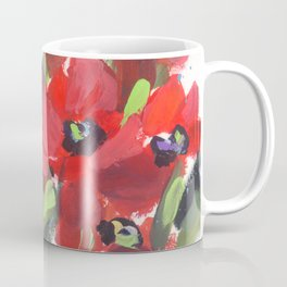 Wild Red Poppies Coffee Mug