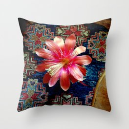 Cactus Flower By Design Throw Pillow