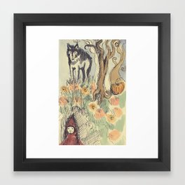 Wolf in the Woods Framed Art Print