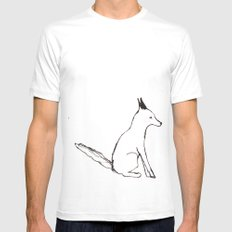 A Fox in The Park White Mens Fitted Tee MEDIUM