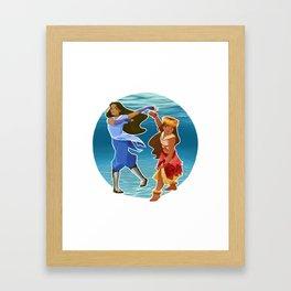 Moana & Katara Framed Art Print