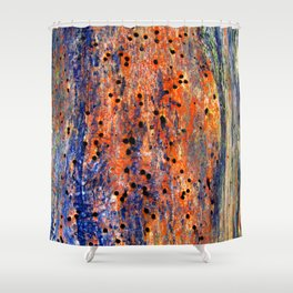 worm holes Shower Curtain