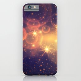 Shiny Sparkling Festive Holiday Bokeh Decorative iPhone Case