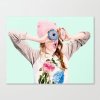 donuts Canvas Prints featuring Donuts by Carlos ARL