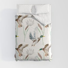 Cute ducks art ,Goose,geese,Birds illustration,pattern  Comforters