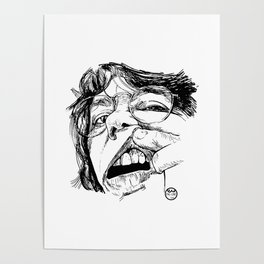 Self-portrait with a tooth Poster